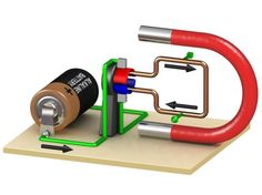 Electric motors turn electricity into motion by exploiting electromagnetic induction. A simple direct current (DC) motor is illustrated below. The mot. Electromagnetic Induction, Electromagnetic Spectrum, Electronic Engineering, Electrical Engineering, Stem Projects, Science Projects, Diy Electronics, Electronics Projects, Science Fair