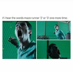 THE MAZE RUNNER THE SCORCH TRIALS THE DEATH CURE NOT MAZE RUNNER 1, 2, AND 3 ARGHH