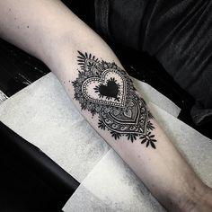Black Heart Tattoo By Alex Bawn - http://tattooideas22.com/black-heart-tattoo-alex-bawn/