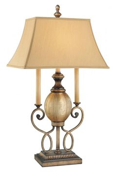 Save 10% off when you buy online. Use coupon code PIN10OFF0912 - Free shipping on orders over 49 dollars.    Hansen Lighting in Orem, Utah, United States, Minka-Lavery 9JQ6, One Light Black Table Lamp, La Cecilia, Black - Patina Iron - Shade - Fabric