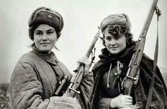 Francotiradoras Rusas en Leningrado.