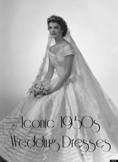 Check out these famous wedding gowns from the 1950s! http://thediamonddossier.com/iconic-wedding-gowns-circa-1950/ #weddingdresses #weddings #famous #history