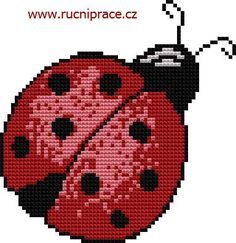 Ladybird, free cross stitch patterns and charts - www.free-cross-stitch.rucniprace.cz