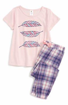 981ce39cff Main Image - Tucker + Tate Two-Piece Pajamas (Toddler Girls