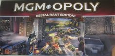 MGMopoly Restaurant Edition Board Game