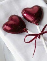 Color Borgoña - Burgundy!!! Heart Lollipop