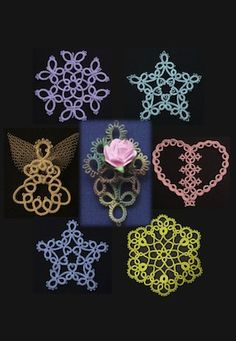 """The Ring of Tatters - Welcome!*****Top left """"snowflake"""" looks like a flower surrounded by butterflies****"""