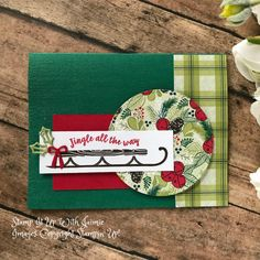 Alpine Adventure – Jingle All The Way – – Stamp It Up with Jaimie Diy Holiday Cards, Christmas Cards 2018, Diy Cards, Christmas Holidays, Christmas Ideas, Alpine Adventure, Christmas Catalogs, Jingle All The Way, Christmas Inspiration