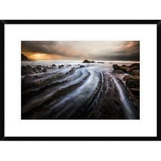 "Global Gallery 'Sculpted by the Sea' by Cuomo Massimo Framed Photographic Print Size: 20.7"" H x 28"" W x 1.5"" D"