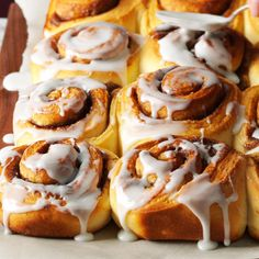 Overnight Cinnamon Rolls Recipe -I like to try different fun fillings in these soft rolls, and each one is packed with cinnamon flavor. They are definitely worth the wait overnight. —Chris O'Connell, San Antonio, Texas