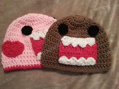 Ravelry: Domo Kun and Pink Domo Love Beanie Hats Crochet Pattern pattern by Niki Wyre