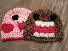 Ravelry: Domo Kun and Pink Domo Love Beanie Hats Crochet Pattern pattern by Niki Wyre