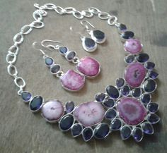 Solar quartz statement necklace.