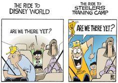 Steelers training camp comic