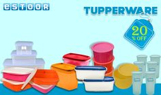 Hurry up @ eSTOOR.com  Get Flat 20% Off on Tupperware Products !!!