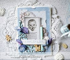 Baby cards for Maja Design and Dusty Attic