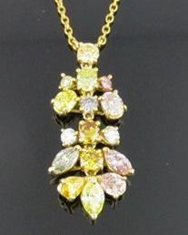 Ferro Jewelers - Estate Jewelry | 1.99ctw Natural Fancy Colored Diamond Necklace