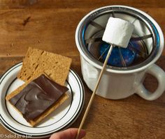 Graham Cracker Party Bar Including a DIY S'mores Table-Top Grill