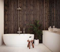 Gran sterk forkullet / innvendig panel - Just Modern Wabi Sabi, Interior, Modern, Wood Walls, Wood Slats, Trendy Tree, Indoor, Interiors