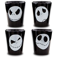"""Tim Burton's The Nightmare Before Christmas """"Toothpick Holder Set"""" lol Disney can't just say they made shot glasses, but """"These tiny cups provide a shot of fun for any ghoulish gathering."""" Really?! haha"""