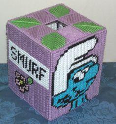 Smurf Tissue Box Plastic Canvas Pattern | eBay