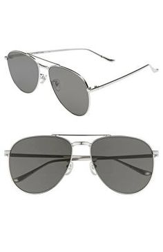 4b510ee3922 BLANC AND ECLARE Designer BLANC   ECLARE Miami 61mm Large Polarized Aviator  Sunglasses