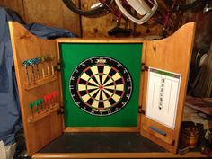 HandMade Solid Wood Dart Board Cabinet w/DMI by JaysEtsyProjects, $224.99