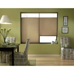 Antique Linen 54-54.5-inch Cordless Top Down Bottom Up Cellular Shades (54 1/2W x 70H Antique Linen), Brown (Polyester)
