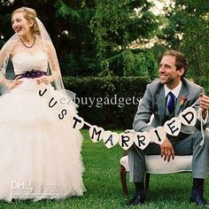 Wholesale Party Decoration - Buy Heart JUST MARRIED Wedding Banner Photo Booth Props Photobooth Wedding Favor, $10.99   DHgate