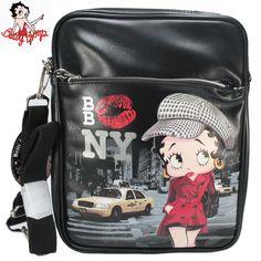 Borsa Da Donna Betty Boop Porta Tablet Nero I Love New York Tracolla | eBay