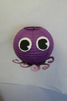 Octopus paper lantern.  Classroom Decor.
