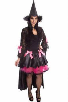 Fantasia De Bruxa Vamp Rosa