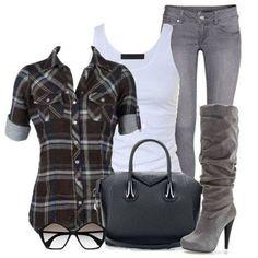 Luv the Plaid Shirt & Boots