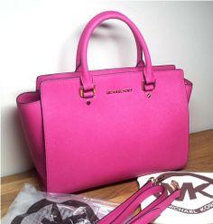 ad3af2dccb Michael Kors Selma Handbag Large Zinnia Pink Cross Body Bag Michael Kors  Wedges