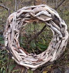 Driftwood WreathHome DecorCenterpieceWall by BurlgirlCreations, $89.00