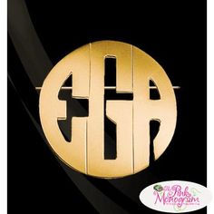 Pin this on your hat your scarf lapel or sweater this pin is the perfect accessory This bold block monogram adds strong character any way you