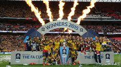 Arsenal celebrate winning the 2015 FA Cup