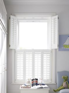 What great shutters for a kid's room from @hillarysblinds, the half height wooden shutters work really well as they provide privacy but also lots of light. They are also easy to clean and hardwearing which make them perfect for childrens rooms