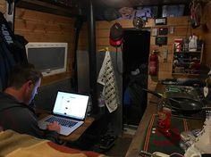 It's not all fun & games sometimes I have to work from the #van too! #vanlife #digitalnomad