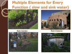 rain garden/ rain cisterns