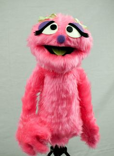 Penelope Monster Hand Puppet / muppet by ThePuppetWorkshop on Etsy. Cute.