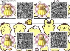 of Many Towns — Anonymous design request for a Pompompurin version Mayor of Many Towns — Anonymous design request for a Pompompurin version.Mayor of Many Towns — Anonymous design request for a Pompompurin version. Animal Crossing 3ds, Animal Crossing Qr Codes Clothes, Sanrio, Hello Kitty Rosa, Motif Acnl, Ac New Leaf, Motifs Animal, House Ideas, Anime Animals