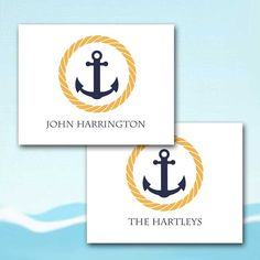 Couple Stationery Nautical Anchor and Rope by sferradesigns