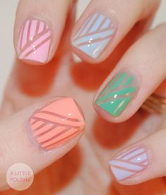 Cute nail art - Get this inspired look at Capricio Salon  Spa | Milwaukee, WI www.capriciosalon.com