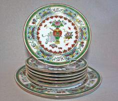Vintage Chinese Cake Platter and Dessert Plates by PeriodElegance, www.PeriodElegance.etsy.com