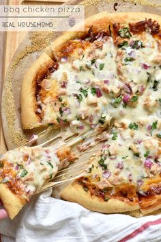 BBQ Chicken Pizza is my all time favorite pizza and ready in under 30 minutes!!
