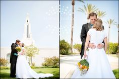 wedding at the LDS temple..