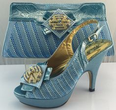 59.34$  Buy here - http://ali9md.worldwells.pw/go.php?t=32787473041 - African Shoe And Matching Bag 2017 Fashion Ladies Matching Shoes And Bags For Party In Women Pumps Heel Shoes ME3307 59.34$