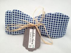 Handmade Bowtie  Blue Gingham by toddsties on Etsy