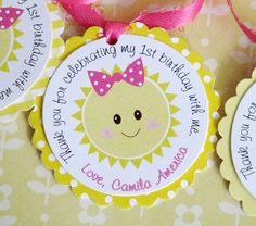 You Are My Sunshine Favor Tags Set of 12 by lindsayisartsy on Etsy